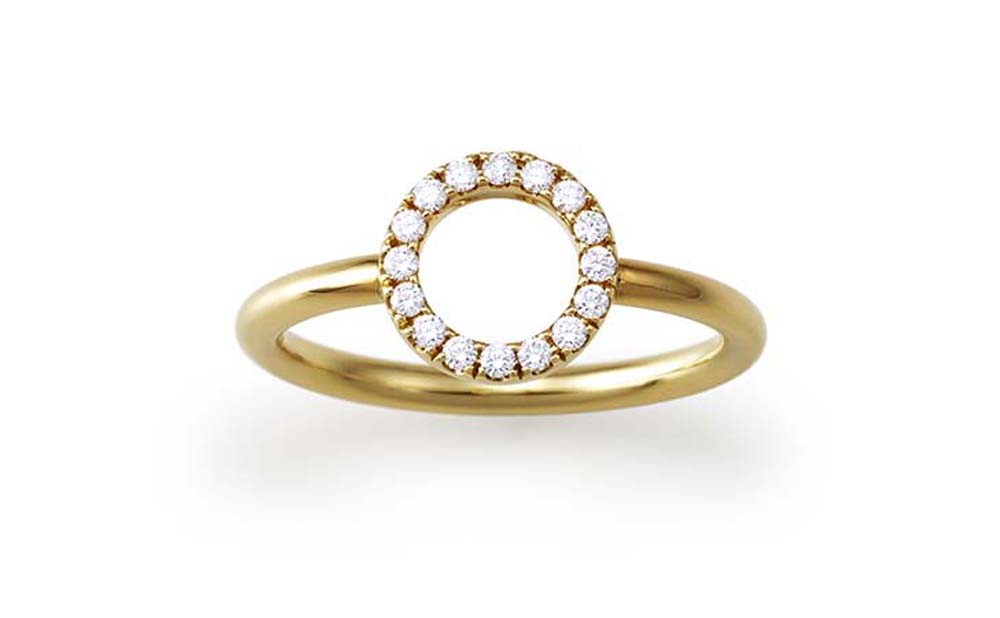 U-line / Ring / K18 / Diamond